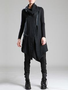 RUSTIC LINEN VEST - JACKETS, JUMPSUITS, DRESSES, TROUSERS, SKIRTS, JERSEY, KNITWEAR, ACCESORIES - Woman -