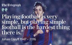 Johan Cruyff simple football