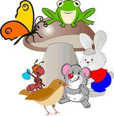 """""""Под грибом"""" В. Сутеев (картинки для фланелеграфа) - Картинки для фланелеграфа - Сказки, стихи, рассказы - Обучение и развитие - ПочемуЧка - Сайт для детей и их родителей"""