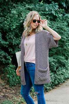 Free Range Open Front Cardigan Crochet pattern by Jess Coppom Make & Do Crew Kimono Pattern, Crochet Cardigan Pattern, Crochet Shawl, Knit Crochet, Crochet Patterns, Crochet Sweaters, Crochet Ideas, Shrug Pattern, Crochet Jacket