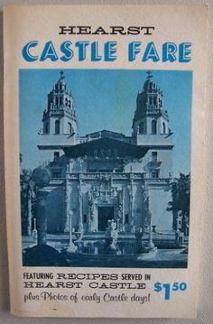 Hearst #Castle Fare: Featuring #Recipes Served in Hearst Castle, plus photos of early Castle Days by Marjorie Collord, http://www.amazon.com/dp/B000TA926O/ref=cm_sw_r_pi_dp_uo5Tsb0KWY9Z2XTY
