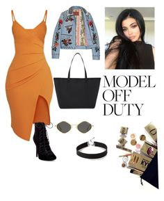 """kylie jenner"" by beatrizruffier ❤ liked on Polyvore featuring Pretty Little Thing, Express and Kendall + Kylie"