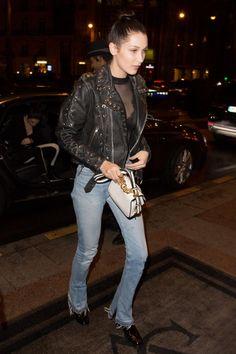 Bella Hadid wearing Miu Miu Fall 2016 Bag
