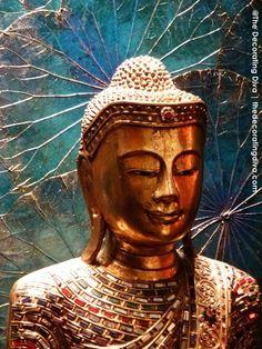 Exotic treasures from enchanted lands for your outdoor or garden. Buddha Kunst, Buddha Art, Buddha Head, Buddha Decor, Buddhist Philosophy, Buddha Buddhism, Asian Decor, Garden Statues, Ancient Art