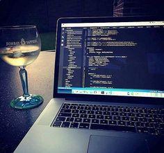 Fullstack dev and a glass of #developer #technology #programmer #code #work #js #html #css #python #php #nodejs #ajax #jquery #java #angularjs #webdev #online #seo #marketing #website #analytics #keyword #traffic #digitalmarketing #development #software #webdeveloper #desk #setup