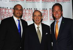 Mayor Cory Booker, Governor Mario Cuomo, Gregory B. Braca during the Help USA Tribute Awards Dinner, Honoring President Bill Clinton, Governor Mario Cuomo and Matilda Cuomo, held at the Waldorf Astoria in New York City, Tuesday, June 5, 2012.