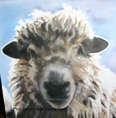 Pine Cones and Acorns: Scenes From a Kitchen, Scenes From A Nest. Sheep painting.