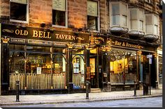 'The Old Bell Tavern, Harrogate, England' by Christine Smith London Pubs, Old London, St Brides, The Great Fire, Fleet Street, Alleyway, North Yorkshire, British Isles, Store Fronts
