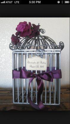 Wedding birdcage gift holder