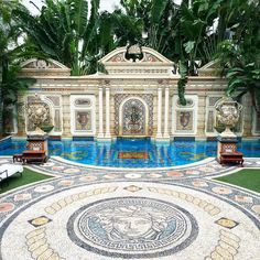 42 Floors Ideas Versace Mansion Versace Home Mosaic Garden