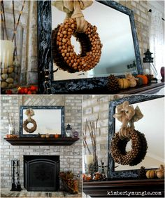 DIY Acorn Wreath.