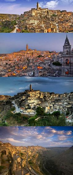 Matera, Italy. A town known for its extensive cave-dwelling districts, the sassi. Visitors can stay in caves, wander the lanes alongside the picturesque cave-filled cliffs, and learn the history of this fascinating place.