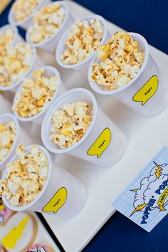 Superhero Party pop corn cups