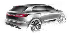 Lincoln MKX Concept - Rear 3 4 view design sketch