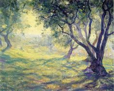 Guy Orlando Rose Provincial Olive Grove - x Premium Archival Print traditional-artwork Impressionist Paintings, Landscape Paintings, Landscape Art, Paintings I Love, Original Paintings, Rose Paintings, Acrylic Paintings, American Impressionism, Traditional Artwork