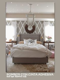 5 ideas geniales para decorar tus paredes con rombos · 5 great ideas to create a diamond wall