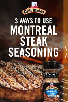 Need an idea to mix up your weeknight dinner? Or maybe a great recipe for the cookout? Check out these 3 ways to use America's #1 Grilling Seasoning, Montreal Steak. American Cheese, Hamburgers, Ketchup, Grilling Recipes, Cheddar Cheese, Montreal, Great Recipes, Main Dishes, Steak