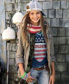 Ralph Lauren Girls Jacket, Graphic Tee & Motorcycle Pants