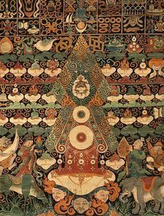 filling my need to hunt and gather. Tibetan Symbols, Tibetan Buddhism, Buddhist Art, Tibetan Mandala, Tibetan Rugs, Tibet Art, Alchemy Art, Thangka Painting, Mandala Drawing