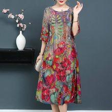 e908b00561f Осень Зима Платья для женщин для с цветочным принтом платье элегантный O  средства ухода за кожей