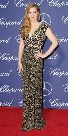Amy Adams is no wallflower—she packed a pretty punch at the 28th Annual Palm Springs International Film Festival in a metallic floral-embroidered Altuzarra silk gown, complete with Cartier diamonds.