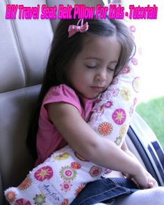 DIY Travel Seat Belt Pillow For Kids – Tutorial!