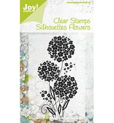 Joy clear stamp silhouettes flowers 3 (Tanja)