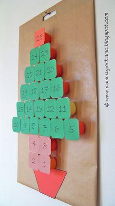 Advent Calendar_Calendario dell'avvento fai da te con i vasetti dello yogurt