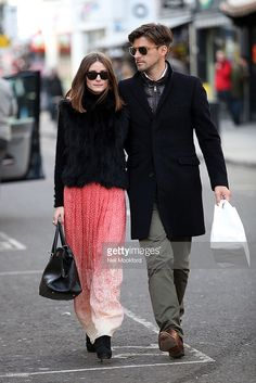 Olivia Palermo and Johannes Huebel sighted walking through Notting Hill on February 24, 2011 in London, England.