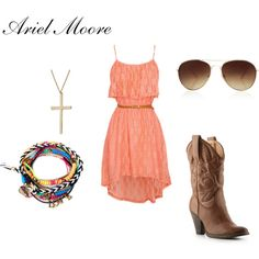 An outfit inspired by Ariel Moore from Footloose played by Julianne Hough Camo Outfits, Fashion Outfits, Cute N Country, Country Life, Country Style Outfits, Fashion Beauty, Summer Dresses, Ariel Footloose, My Style