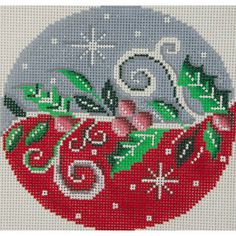 2014 Christmas   Product Categories   Alice Peterson Company -- needlepoint holly ornament