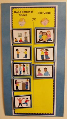 Personal Space: This interactive activity pack has 5 parts: A social story, a scenario activity, a behavior chart activity, 3 visuals, and a student check sheet. This is great to do with an individual or a group of children who struggle with keeping or understanding personal space.