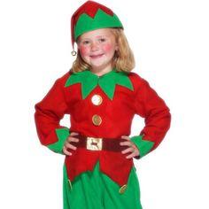Alfe Kostume Barn 6 - 8 år. Julemandens hjælper! Sødt alfekostume til de små