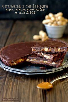 La tana del coniglio: Crostata Snickers con caramello e arachidi