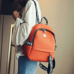 4b641e7f9a Cool! Leisure PU Letters Pure Color Lichee Pattern Girl s School Bag  College Backpack just  32.99