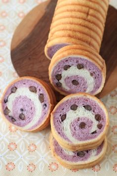 「紫いものうずまきパン」kaiko | お菓子・パンのレシピや作り方【corecle*コレクル】