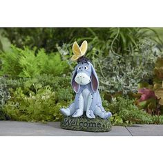 """Decorative Home Garden Statue -11.5"""" DISNEY EEYORE- """"WELCOME"""" - Home Decor Engraved Landscape Cute Designed Outdoor Front yard Backyard Rock Stone-Character Themed-Beautiful Way to add accent to your yard or deck railing-Made of DURABLE & Resistant Material Disney http://www.amazon.com/dp/B00KBNL7F8/ref=cm_sw_r_pi_dp_YVBUtb1Z9Q7A600W"""
