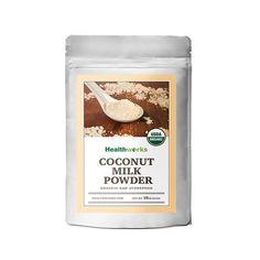 Healthworks Coconut Milk Powder Organic Dairy Free, for sale online What Is Coconut Milk, Coconut Milk Powder, Organic Coconut Milk, Coconut Cream, Coconut Flour, Vegan Quinoa Recipes, Raw Vegan Desserts, Gourmet Recipes, Recipes Dinner
