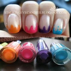 @Caytie Clark Dripping nails Version 2: Candy nails