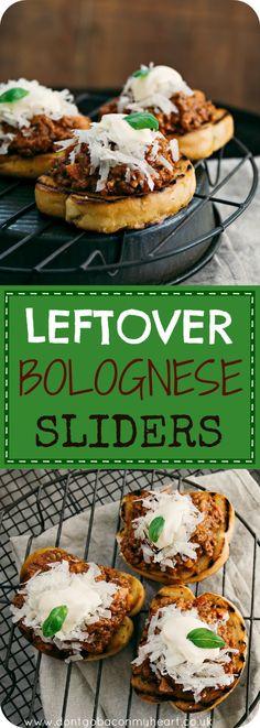 Leftover Bolognese Sliders