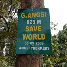 Mount Angsi in Malaysia