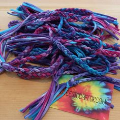 M A L I B U  Pinks, purples & blues for 2015; Our bracelets are perfect for making a statement. Layer them up, or share them with a friend. #tiedye #bracelets #boho #jewellery #indie #woven