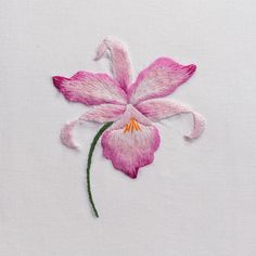 Orchid GalaHand Towel - White Cotton – Henry Handwork