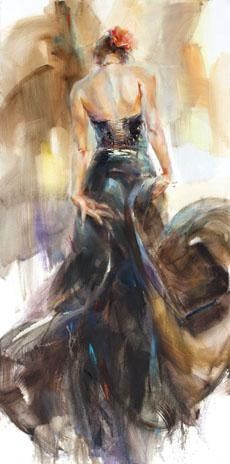"Dancer fine art at Art Leaders Gallery: ""Unfolding Dance II"" by Russian artist Anna Razumovskaya. Discover more affordable fine art, sculptures, hand blown glass, art gifts, and custom framing. artleaders.com 