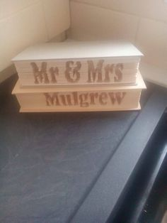 Mr & Mrs any surname CUT and Fold Book by ZoesNovelCreations