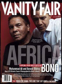 Muhammad Ali and Barack Obama #VanityFair #AfricaIssue