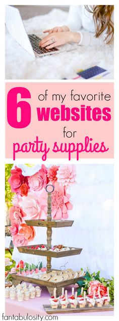 These are affordable too! A list of party supplies websites. I'll be remembering this for sure..