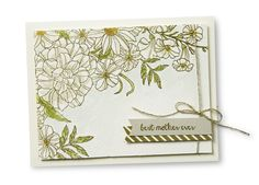 We love the watercoloring on this card made with the Corner Garden background stamp.