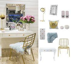 Kolory roku rose quartz i serenity w połączeniu z bielą i złotem stylizacja Sweet Living, wszystkie produkty dostępne w sklepie internetowym www.sweetliving.pl #sweetliving #trendy #wnętrza #meble #dekoracjedodomu #eleganckiemeble #glaomour #złoto #serenity #rosequartz #dodatki #poduszki #lampy #ramki #swiece #stoliki #biurka #kwiaty #bloomingville #lenebjerre #slcollection