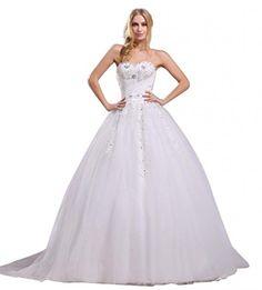 Ikerenwedding Women's Sweetheart Lace Applique Beach Wedding Dress White US2 Ikerenwedding http://www.amazon.com/dp/B00PQBBS7C/ref=cm_sw_r_pi_dp_HuyTvb03HJQ9Z